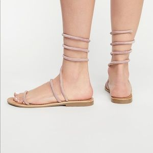 Free People Havana Suede Wire Wrap Sandals 38